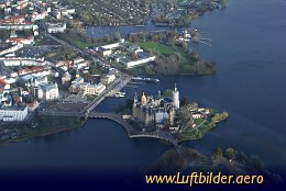 Aerial photo Schwerin Castle