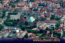 Aerial photo Erfurt
