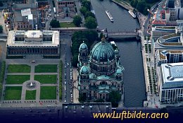 Aerial photo Berlin Cathedral