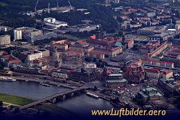 Aerial photo Old Town of Dresden