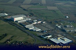 Aerial photo Shopping Center Waltersdorf