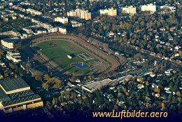 Aerial photo Mariendorf Harness Racing Track