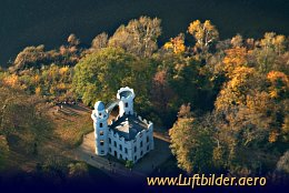 Aerial photo Pfaueninsel Castle