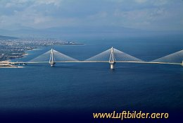 Aerial photo Bridge of Patras