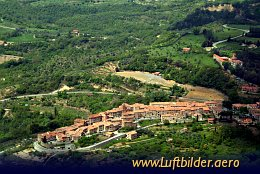 Aerial photo Tuscany Mountain Village