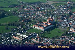 Aerial photo Ottobeuren Benedictine Abbey