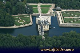 Aerial photo Chateau de Chenonceau