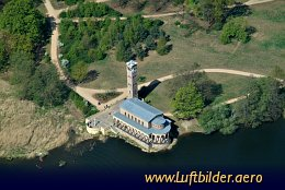 Aerial photo Church of the Redeemer in Sacrow