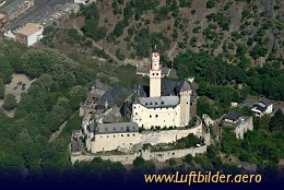Aerial photo Marksburg Castle