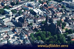 Aerial photo Worms Cathedral