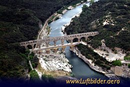 Aerial photo Pont Du Gard