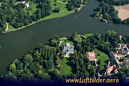 Aerial photo Wörlitz Castle