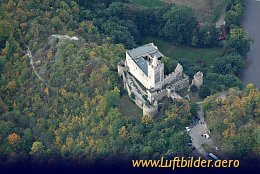 Aerial photo Rudelsburg Castle