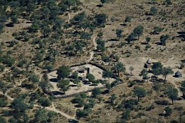 Aerial photo Kraal in Botswana